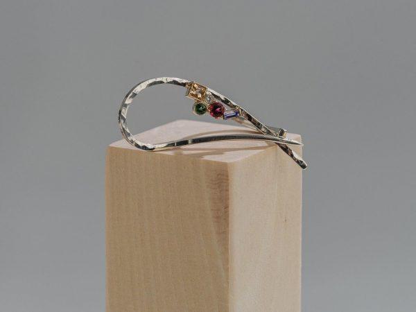 Multi gemstone contemporary Ring