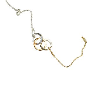 Anellos Diamond Contemporary Circle Necklace