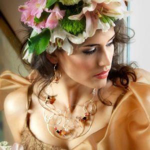 Nadia Bouvardia Necklace $ Earrings