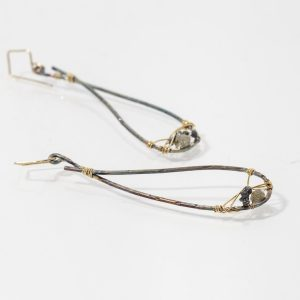 Svasare Patinated Rough Diamond Earrings